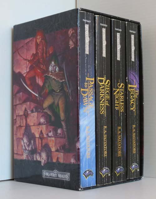 Image for Legacy of the Drow Box set in Slipcase: The Legacy, Starless Night, Siege of Darkness, Passage to Dawn