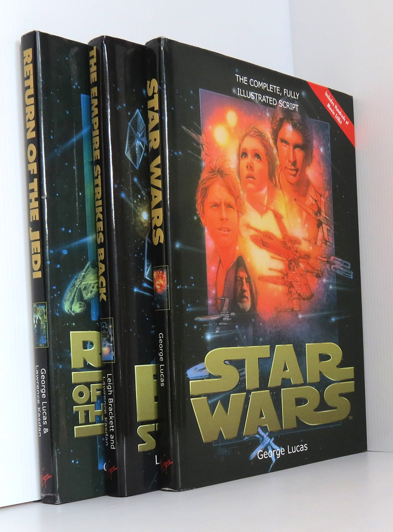Image for Star Wars Complete Illustrated Scripts - Fine Set of 3 Volumes - Star Wars; Empire Strikes Back; Return of the Jedi