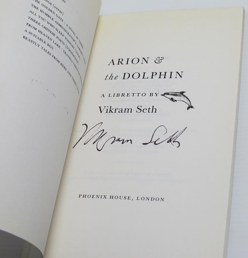 Image for Arion And The Dolphin: Libretto (Signed)
