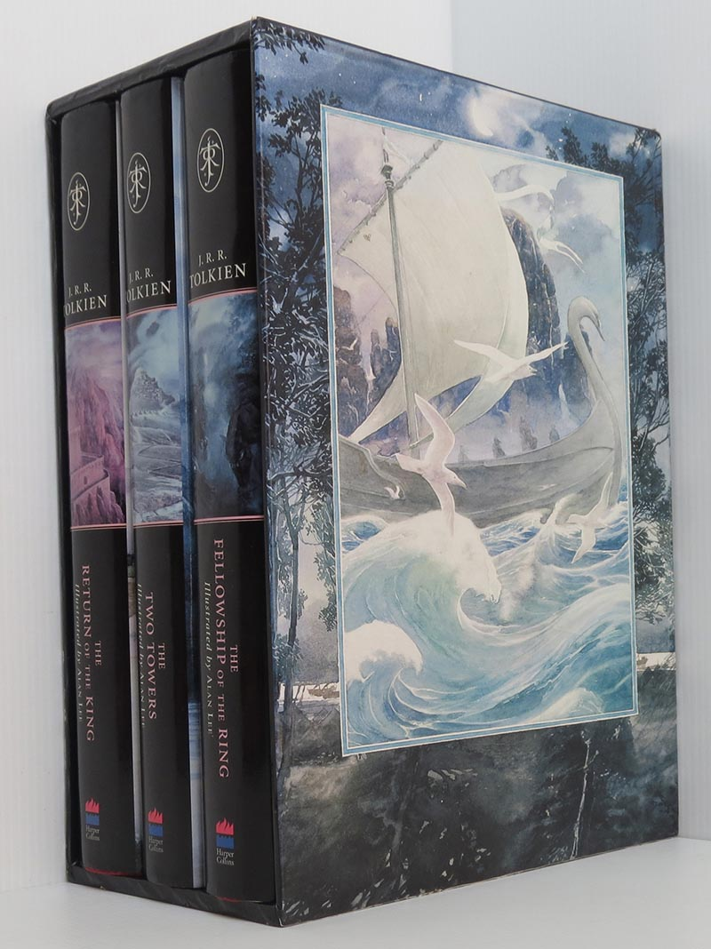 Image for The Lord of the Rings - 3 hardback volumes Boxed Slipcase Set (illustrated Alan Lee)