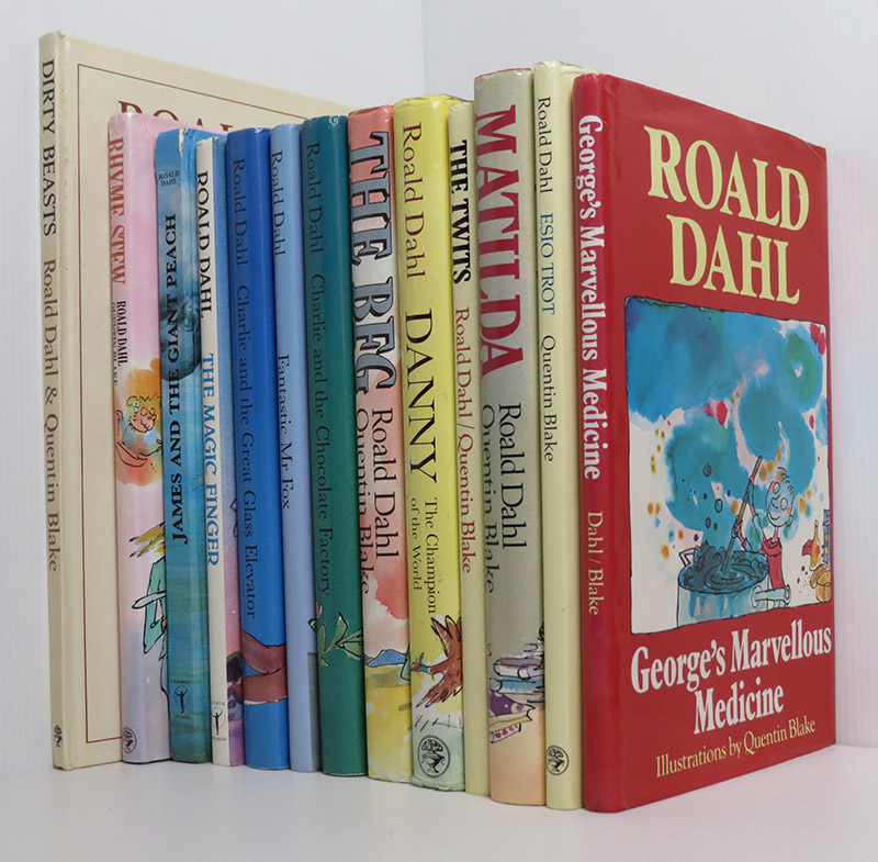 Image for Roald Dahl Books Collection 13 books mostly Cape 1st ed. later printings Illustrated Quentin Blake: The BFG; Charlie and the Chocolate Factory; Charlie and the Great Glass Elevator; Danny Champion of the World; The Twits; Matilda; George's Marvellous Medicine; Fantastic Mr Fox; Rhyme Stew; Dirty Beasts; Esio Trot; The Magic Finger; James and the Giant Peach.