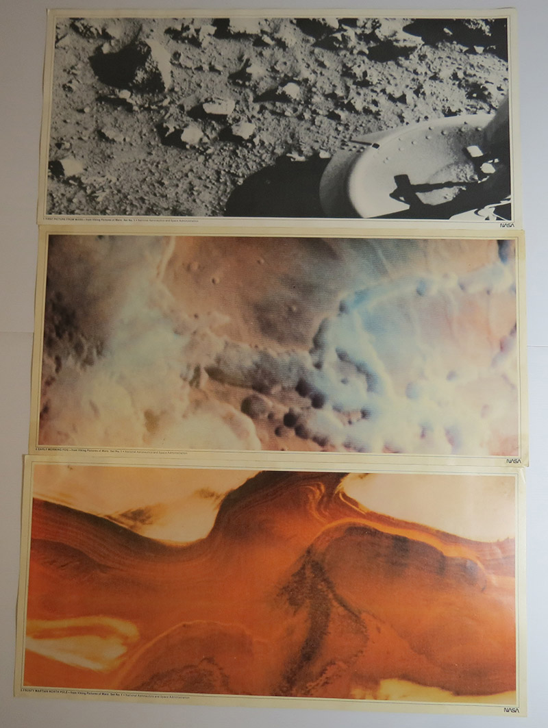 Image for Viking pictures of Mars : Set no.1 (Complete: 9 images, Summary sheet and envelope)