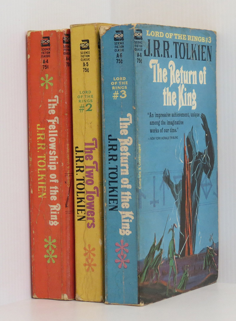 "Image for J. R. R. TOLKIEN The Lord of the Rings. Ace ""pirate"" edition 1965 3 volumes (Ace A4, A5, A6)"